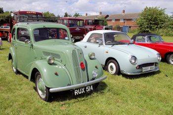 Ford Popular and a Nissan Figaro