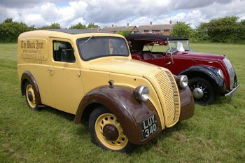 two Morris 8s
