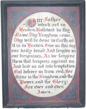 Lord's Prayer board