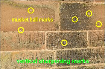 marks on tower